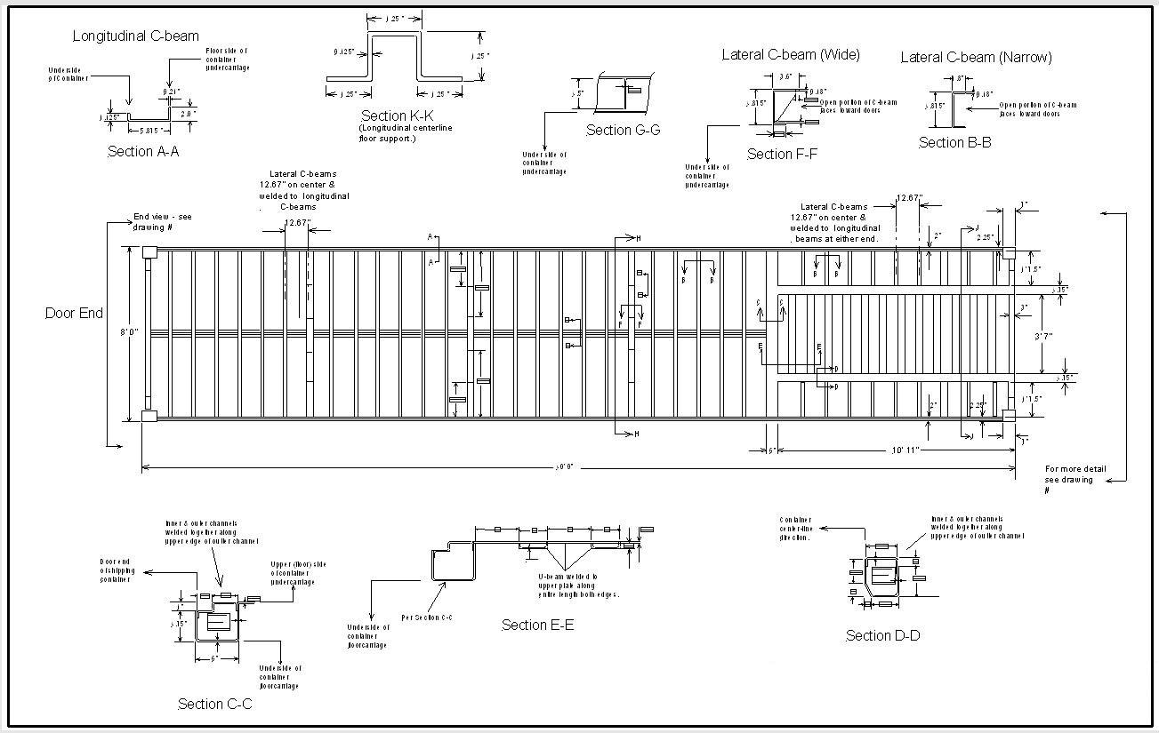 Shipping Container Home Engineering Guide Chapter 5 Wall Schematic Diagram The Roof And Side Walls Arent Designed To Support Weight Of An Entire Without Adding Bracing Or Additional Columns As You Will